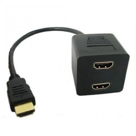 Cabo HDMI Y - 1 HDMI (macho) para 2 HDMI (fêmea)