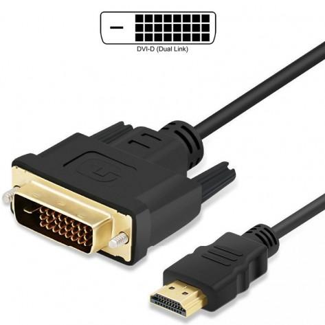 Cabo DVI-D para HDMI - 1,5 Metros