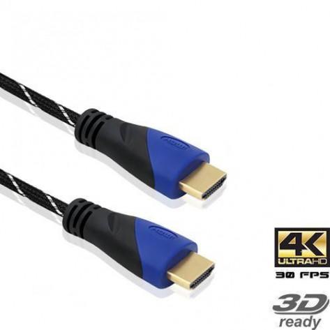 Cabo HDMI Giga 1.4 Macho-Macho Com Malha - 3 Metros