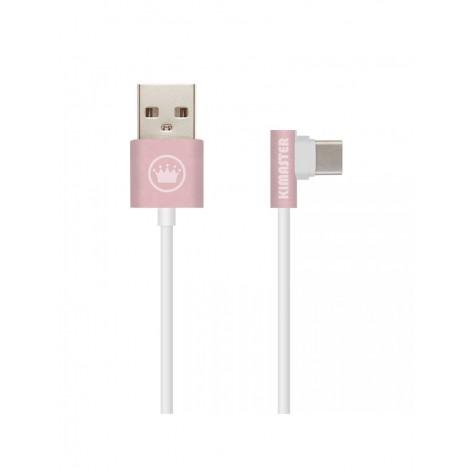 Cabo USB Type-C Metálico com plugue em L - Kimaster CB209