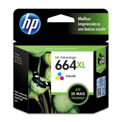 Cartucho de Tinta Colorido HP 664XL - (F6V30AB)