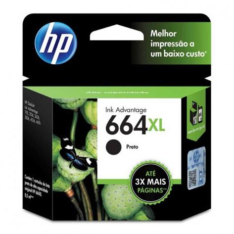 Cartucho de Tinta Preto HP 664XL - (F6V31AB)