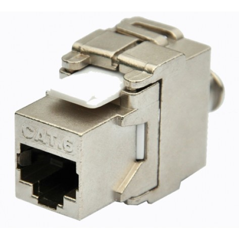 Conector RJ45 CAT6 Hi Top Fêmea Keystone - Auto Crimpante - Metal