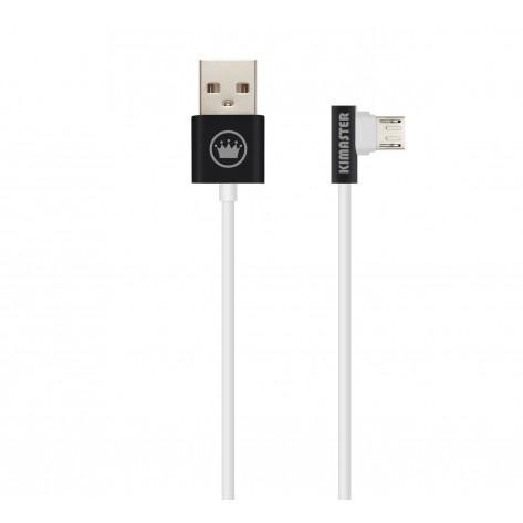 Cabo USB 2.0 Metálico com plugue em L - Kimaster CB208