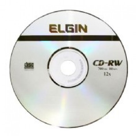 Mídia CD-RW 700MB Elgin