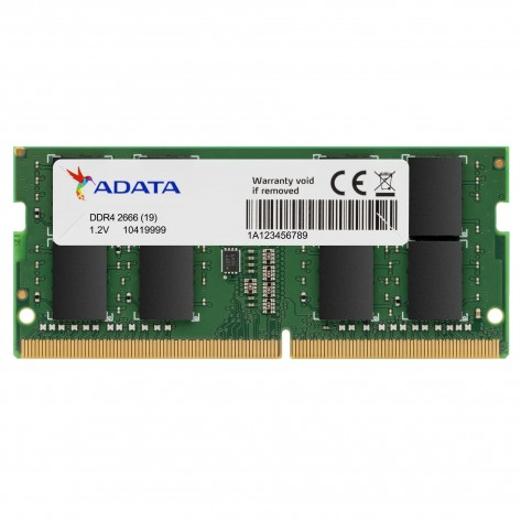 Memória para Notebook 4GB DDR4 Adata AD4S2666J4G19-S - PC4-21300 (2666 MHz) - SODIMM