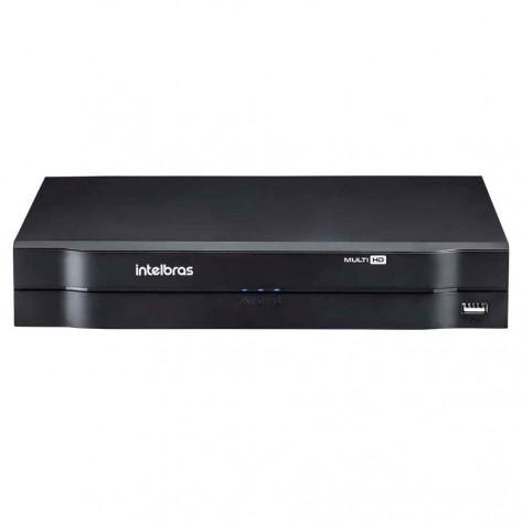 DVR Intelbras MHDX-1004 Multi HD - 5 em 1 - 4 canais BNC + 1 canal IP ou 5 canais IP no modo NVR - Sem HD