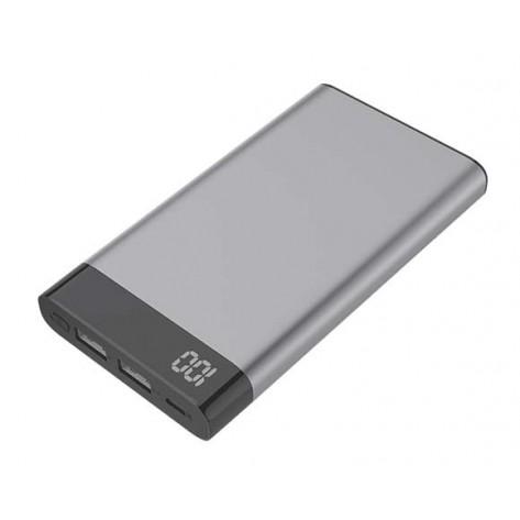 Carregador Portátil Power Bank Kimaster E37 - 6000mah - 2x USB - Cinza