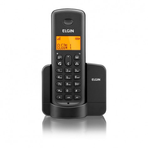 Telefone sem fio Elgin TSF 8001 - Viva Voz - Localizador - Indentificador Chamadas - Preto