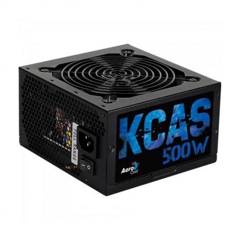 Fonte ATX 500W Aerocool KCAS-500W (EN53367) - 80 Plus Bronze - PFC Ativo