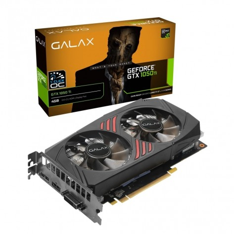 Placa de Vídeo Galax GeForce GTX 1050 Ti 50IQH8DSC7CB - 4GB DDR5 128 bits - PCI-Express 3.0