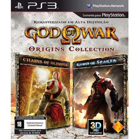Jogo para Playstation 3  God of War Origins Collection™