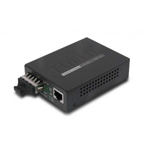 Conversor de Mídia Planet GT-802S - Gigabit de 10/100/1000Base-T para 1000Base-SX/LX