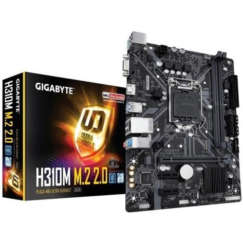 Placa Mãe Gigabyte H310M M.2 2.0 - Chipset H310 - (DDR4, M.2, HDMI, USB 3.1 Gen 1) - Soquete 1151