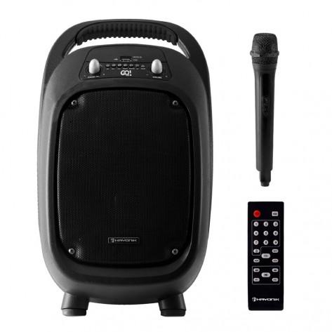 Caixa de Som Multiuso Portátil Hayonik GO!100 - 100W - Bluetooth/MicroSD/USB/FM - Com bateria