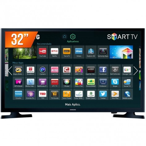 "Smart TV 32"" LED Samsung HG32NE595JGXZD - 1366 X 768 - 2 HDMI - Wi-Fi Integrado - Preto"