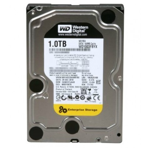 Western Digital WD1003FBYX - 1TB 64MB Cache SATA 3.0Gb/s 3.5'' - 7200 RPM