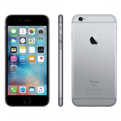 "Smartphone Apple iPhone 6S - Tela 4,7"" 16GB 4G - Cinza Espacial"