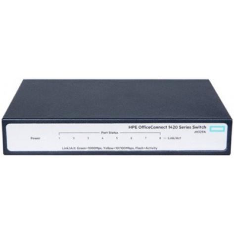 Switch HP Aruba JH329A 1420-8G - 8 portas 10/100/1000 Mbps - L2