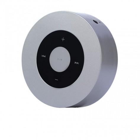Mini Caixa de Som Bluetooth Touch Portátil - Kimaster K361 - Prata