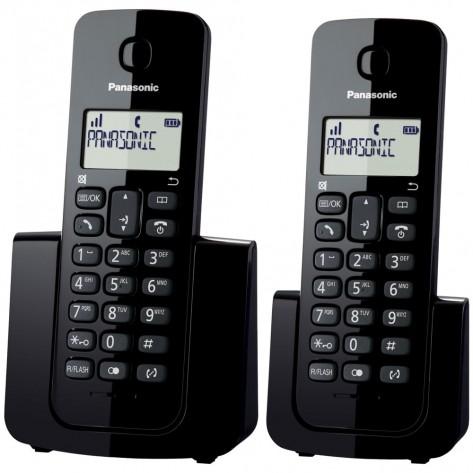 Telefone sem fio Panasonic DECT 6.0 KX-TGB112LBB - 1 Ramal - Viva Voz - Indentificador Chamadas - Preto