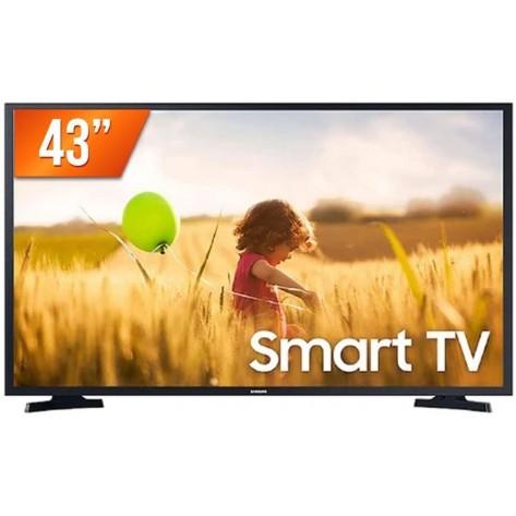Smart TV 43'' LED Samsung BE43T-M LH43BETMLGGXZD - 1920 x 1080 - 2 HDMI - 1 USB - Wi-Fi Integrado - Preto