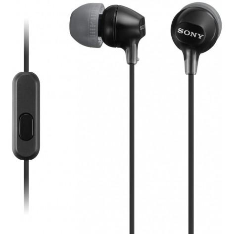 Fone de Ouvido Intra-Auricular Sony MDR-EX15AP - Com Microfone - Preto