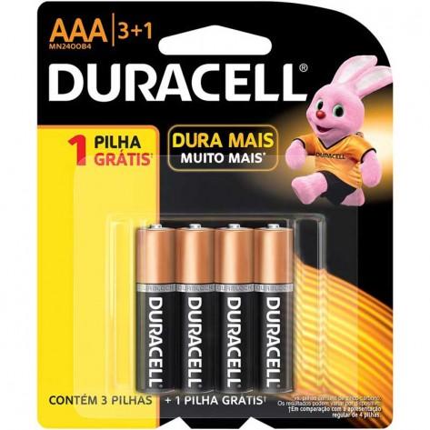 Pilha Duracell MN2400B4 - AAA - Pack com 4