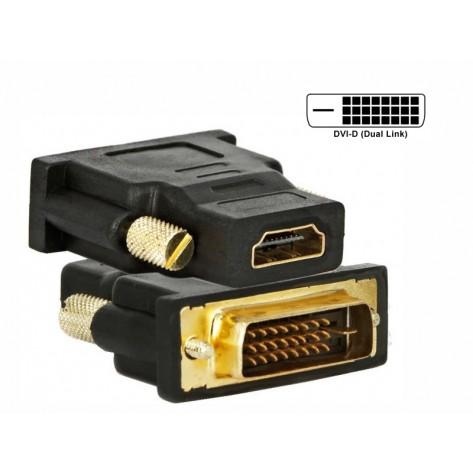 Adaptador DVI macho para HDMI fêmea
