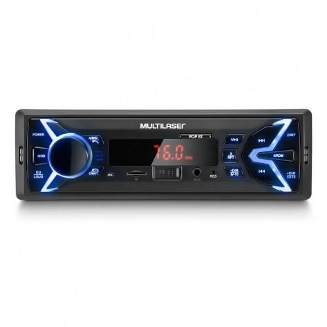 Som Automotivo Multilaser P3336 com Bluetooth - MP3/FM/USB/AUX/Micro SD - 4 x 25W RMS