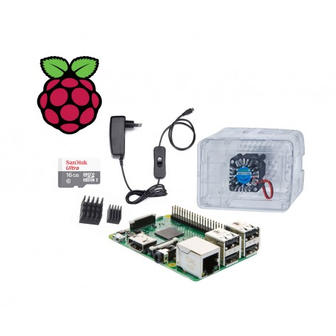Kit Raspberry Pi 3 Model B - 16GB Sandisk - Case Premium com Cooler