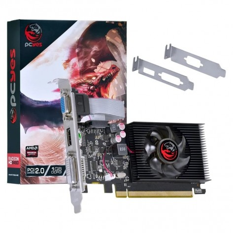 Placa de Vídeo PCYes Radeon HD 5450 PJ54506401D3LP - 1GB DDR3 64 bits - PCI-Express 2.0 - Low Profile