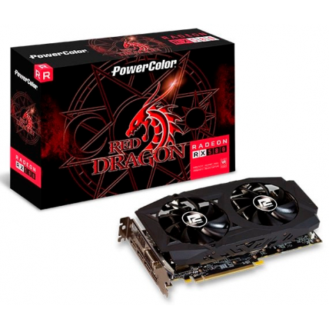 Placa de Vídeo Power Color AMD Radeon RX580 - 8GB DDR3 256 bits - PCI Express 3.0