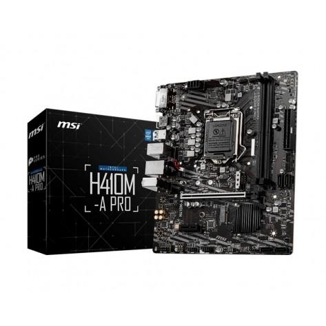 Placa Mãe MSI H410M-A PRO - Chipset H410 - (DDR4, M.2, HDMI, USB 3.2 Gen 1) - Soquete 1200