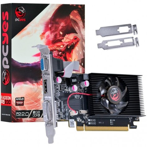 Placa de Vídeo PCYes Radeon R5 230 PW230R56402D3 - 2GB DDR3 64 bits - PCI-Express 2.0 - Low Profile