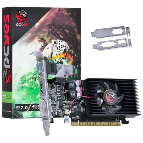 Placa de Vídeo PCYes Geforce GT730 PW730GT12804D3LP - 4GB DDR3 128 bits - PCI-E 2.0 - Low Profile