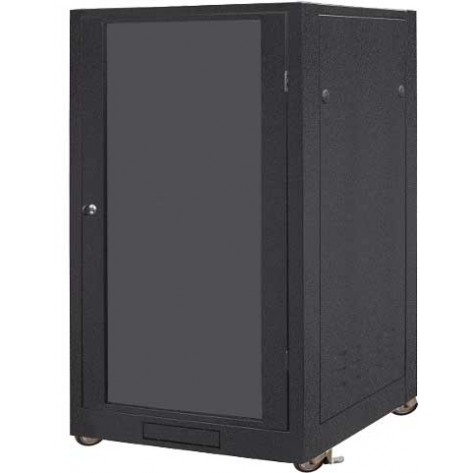 "Rack de piso 19"" - 20U - 1070mm + 2 Ventiladores + Kit Rodas + 1 Bandeja"