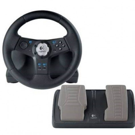 Volante Logitech Rally Vibration Feedback Wheel - PlayStation 2