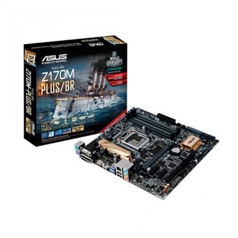 Placa mãe Asus Z170M-PLUS/BR (Som, Video, Rede, USB 3.0) - Socket 1151
