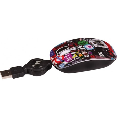 Mouse Óptico Retrátil T'nB Rock2