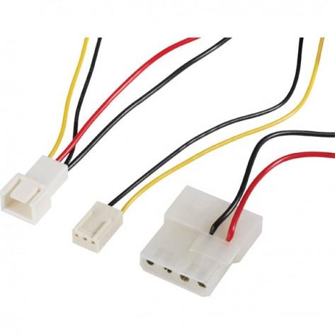 Cabo Adaptador Akasa C-CABLE-ADPT - 3-pinos para 4-pinos