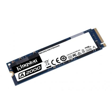 SSD M.2 NVMe 250GB Kingston SA2000M8/250G - Gravações 1100 MB/s - Leituras 2000 MB/s