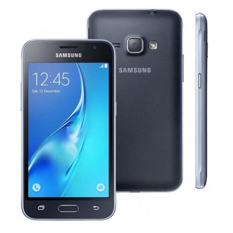 "Smartphone Samsung Galaxy J1 - SM-J120H-DS - 3G Android 5.1 Quad Core 1.2GHz 8GB Câmera 5.0MP Tela 4.5"" - Preto"