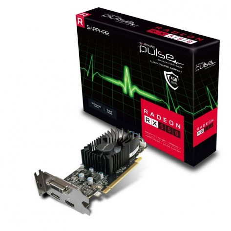 Placa de Vídeo Sapphire Radeon RX 550 - 4GB GDDR5 128 bits - PCI Express 3.0 - Low Profile