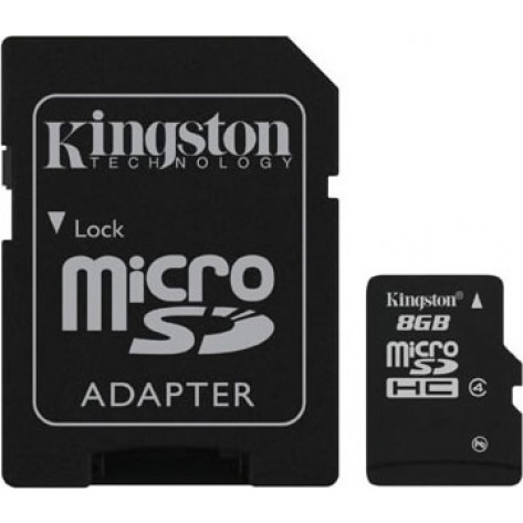 Memória MicroSD Kingston 8GB - Class 4