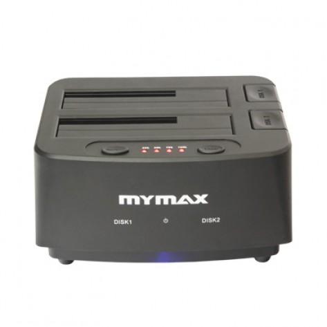 "Dock Station Mymax Dual Clone - para HD 2,5"" / 3,5"" SATA - USB 2.0"