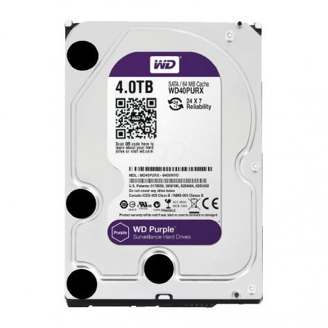 HD 4TB (4000GB) Western Digital WD40PURX Sata III - 64MB IntelliPower