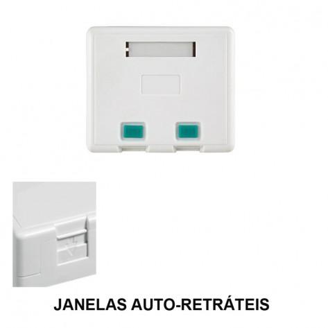 Caixa de superfície - 2 Portas - RJ45
