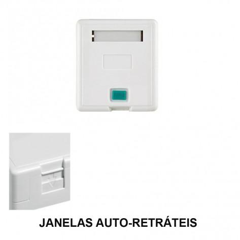 Caixa de superfície - 1 Porta - RJ45