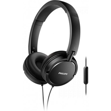 Fone de ouvido Supra-Auricular Philips Extra Bass SHL5005/00 - Com microfone - Preto